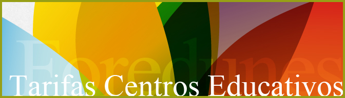 Tarifas foredunes centros educativos educacion medioambiental